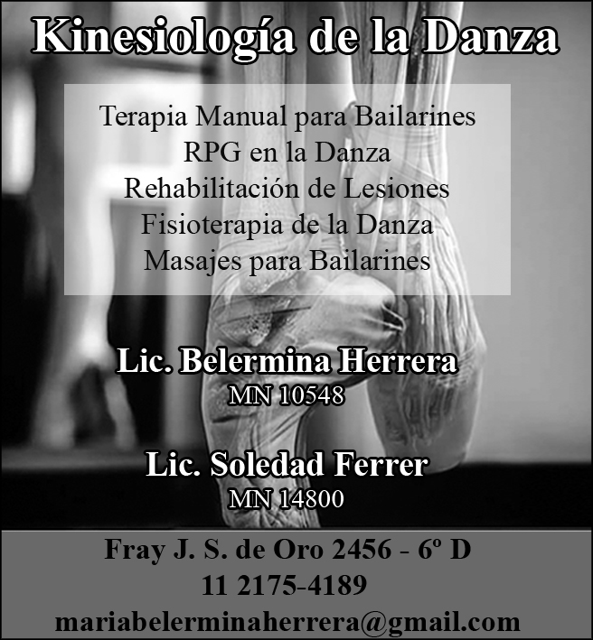 Kinesiología de la danza